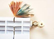 energetyczny dostosowanie grzejnik save Save energię i pieniądze pojęcie Zdjęcia Royalty Free