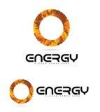 Energetyczny loga okręgu pojęcie Fotografia Royalty Free