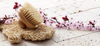 Energetyczny masaż dla piękna i czystości przy zdrojem Zdjęcia Stock
