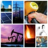 Energetyczny pojęcie z kolażem różnorodna fotografia zdjęcia stock