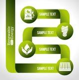 Energetyczny projekt, wektorowa ilustracja ilustracja wektor