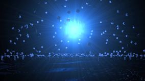 Energetyczny wybuch tło, 3d zdjęcie wideo