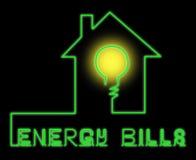 Energetycznych rachunków przedstawień Electric Power 3d ilustracja Zdjęcie Stock