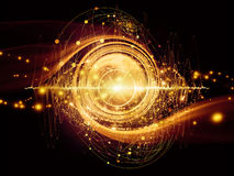 Energi av atomen Royaltyfri Bild