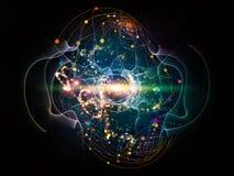 Energi av atomen stock illustrationer