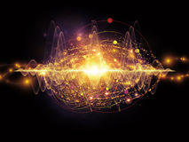 Energi av atomen vektor illustrationer