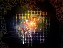 Energi av nätverket Arkivbild