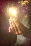Energi av nya idéer i affärsprocess Royaltyfri Bild
