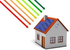 Energi-Besparingen mäter royaltyfri illustrationer