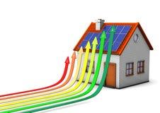 Energi-Besparingen mäter vektor illustrationer