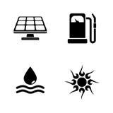 Energi Enkla släkta vektorsymboler vektor illustrationer