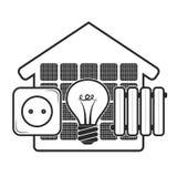 Energi för hem- ecosymbol royaltyfri illustrationer