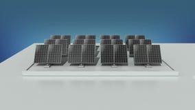 Energi för makt för sol- energi ändrande elektrisk och leverera en stad med elektricitet Vit version vektor illustrationer