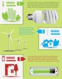 Energi - infographic sparande Arkivfoto