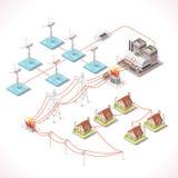 Energi 16 isometriska Infographic Royaltyfria Bilder