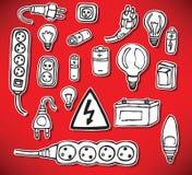Energi- och elkraftsymboler Arkivbilder