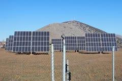 energi panels sol- Fotografering för Bildbyråer