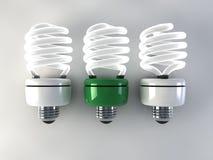Energi - sparande ljus kula vektor illustrationer