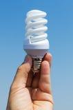 Energi - sparandelampa Arkivbilder