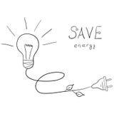 energi sparar royaltyfri illustrationer