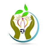 energi sparar stock illustrationer