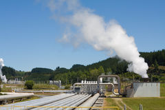 Energia altenative Geothermal da central eléctrica fotografia de stock