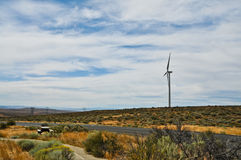 Energia alternativa della turbina di vento Immagine Stock Libera da Diritti