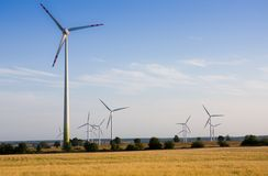 Energia alternativa della turbina di vento Immagine Stock