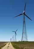 Energia alternativa - recursos do vento Fotos de Stock Royalty Free