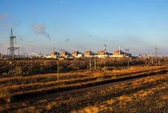 Energia atomowa i zanieczyszczenie Bigest elektrownia jądrowa Zdjęcia Stock