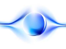 Energia azul com esfera Imagem de Stock