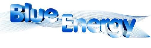 Energia blu Fotografia Stock Libera da Diritti