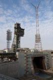 Energia-Buran het ruimtestootkussen van de systeemlancering Stock Fotografie