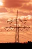 Energia in cielo del fuoco Fotografia Stock Libera da Diritti