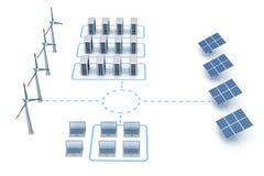 A energia conserva a rede ilustração do vetor