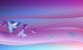 Energia cor-de-rosa com folhas ilustração stock