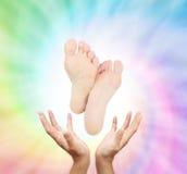 Energia cura de espiralamento do reflexology Fotografia de Stock