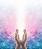 Energia cura de irradiação de Reiki Imagem de Stock