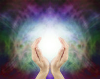 Energia cura sagrado de Pranic Foto de Stock Royalty Free