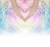 Energia curativa del cuore Immagine Stock