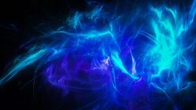 Energia d'ardore blu con i flash Immagini Stock
