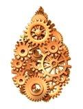 A energia da potência da indústria petroleira engrena o símbolo das rodas denteadas Imagem de Stock Royalty Free