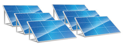 Energia das energias solares, painéis solares, energia renovável Fotos de Stock Royalty Free