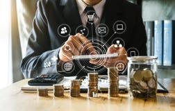 energia de salvamento da ideia e conceito explicando da finança imagem de stock royalty free