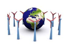 Energia de vento ilustração do vetor