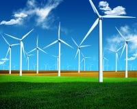 Energia de vento imagem de stock