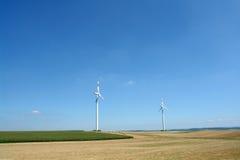 Energia de vento Foto de Stock Royalty Free
