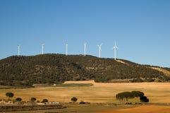 Energia de vento - central eléctrica imagens de stock royalty free