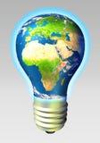 Energia del globo - Europa e l'Africa Fotografia Stock