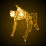 Energia dell'uomo di dancing Fotografia Stock
